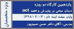 یازدهمین دوره درمان مبتنی بر پذیرش و تعهد (ACT)